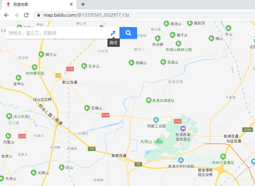 打开搜索工具:百度地图